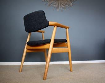 Vintage Danish Svend Åge Eriksen Glostrup Desk Chair Retro Mid Century 50s 60s 70s