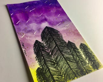 Mini painting nature and stars || galaxy space