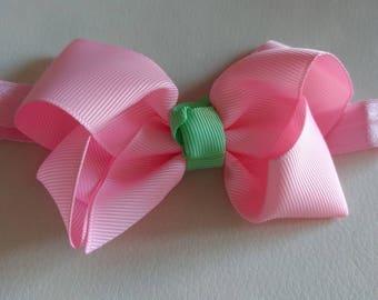 Pink baby headband - Pink bow headband, bow headband, baby bow headband, baby headbands, baby hair bows, baby bows, newborn headband, bows