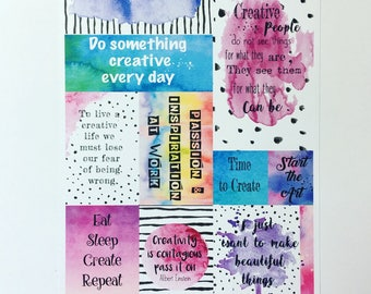 Creative/art journalling paper
