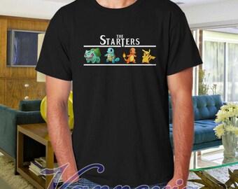 Pokemon Shirt, The Starters Pokemon Shirt, Pikachu Shirt, Birthday Shirt, Funny Shirt, Cute Shirt, Japanese Anime Shirt - VX-STATERMOON