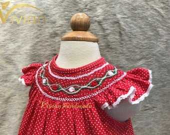 Hand smocked bishop dress for girl