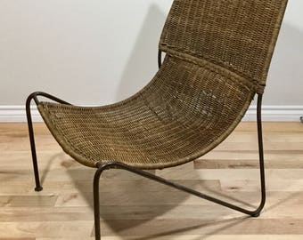 Frederic Weinberg style wicker chair