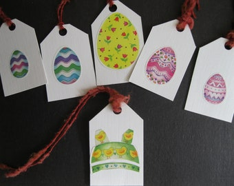 Easter Gift Tags ~ Easter Egg Stickers ~ Tags