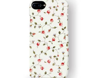 iPhone 7 Plus Phone Case French Art Flower Wall, S8 Plus Colorful Paris Flowers, Protective 3D Edgeless iPod Touch 6 Cover Ladies