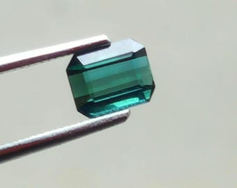 0.95 Carat Blue Indicolite color loose tourmaline gemstone from@ Afghanistan 6*5*3.5mm (20)