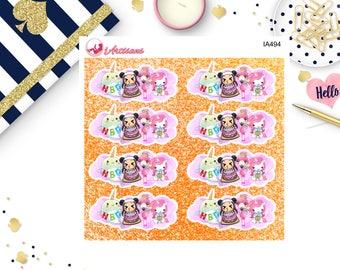 Happy Birthday Stickers - Unicorn Stickers - Narwhal Stickers - Mei-Mei Stickers - Birthday Stickers for Planners - Flamingo Stickers