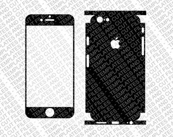 Iphone 6 Plus Skin template for cutting or machining - Digital Download - Full Lateral Wrap Version - Cut File