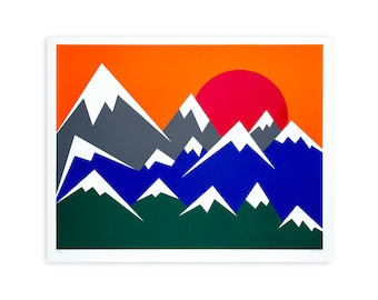 Mountain Child Screen Printed Poster