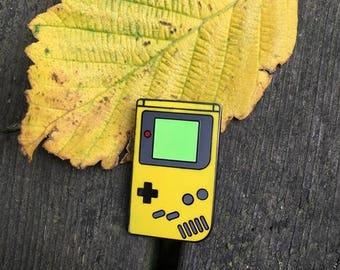 Yellow Classic Gameboy Enamel Pin
