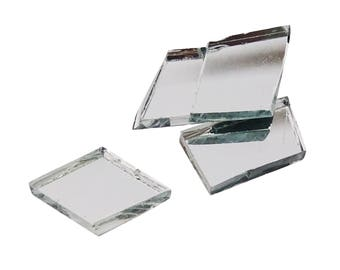 Bulk 24 Pc 1 Inch Size Small Square Craft Mirrors From
