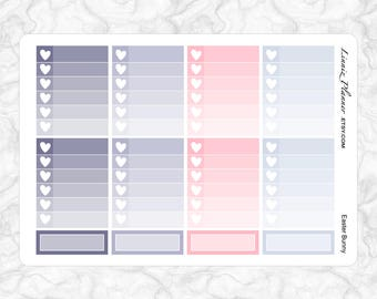 Easter Bunny Checkboxes   Stickers for your Erin Condren, Happy Planner, Kikki K, Filofax and more