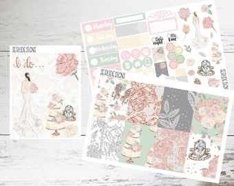 Enchanted Love Planner Sticker Kit-Weekly Planner Sticker Kit-Perfect for the Erin Condren Life Planner-Wedding Planner Sticker Kit