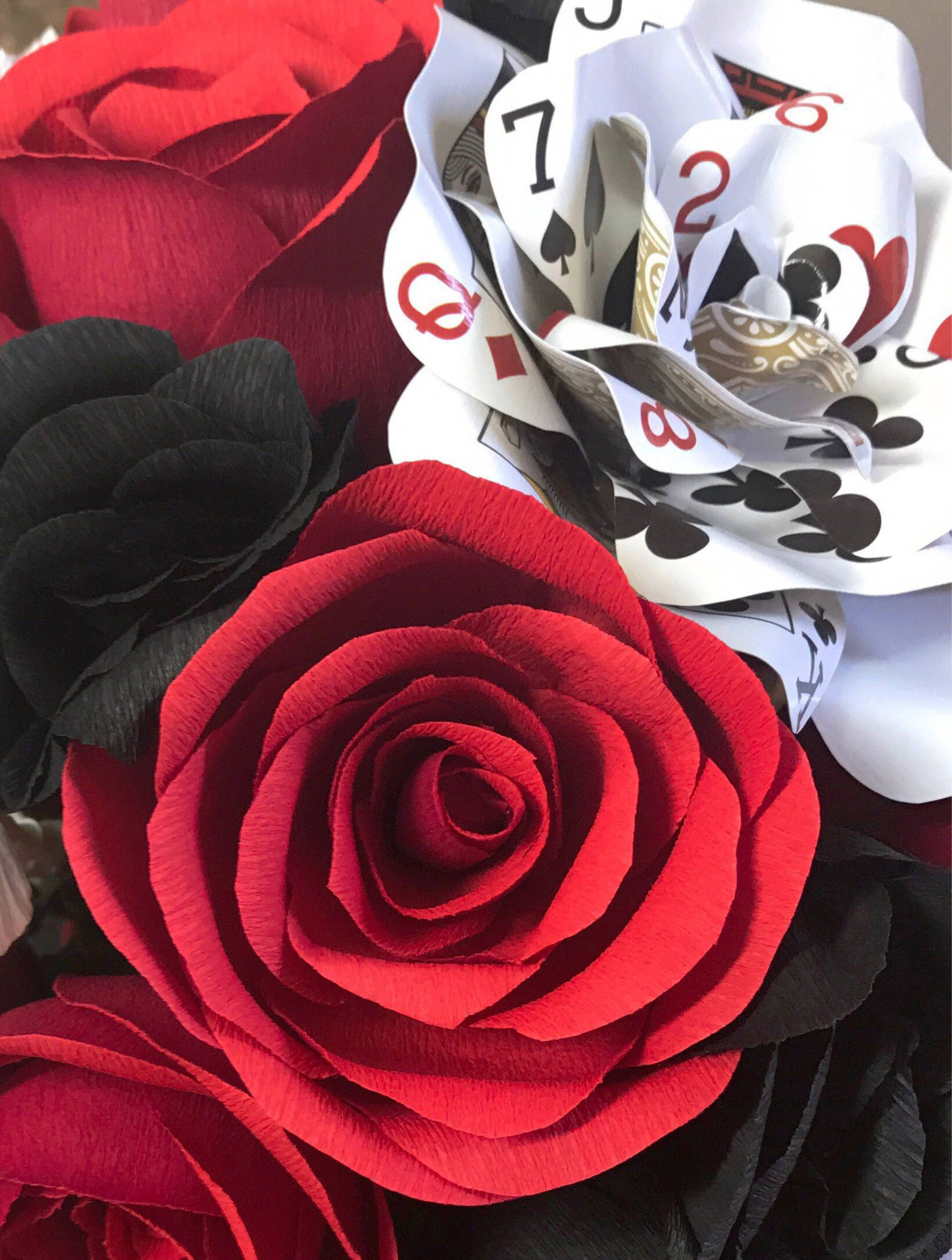 Dozen paper roses 6 crepe paper flowers 6 playing card flowers dozen paper roses 6 crepe paper flowers 6 playing card flowers vegas reviewsmspy