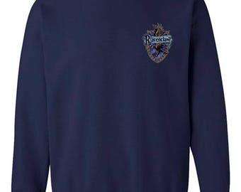 Ravenc Crest #2 Pocket Full color print on Crew neck Sweatshirt