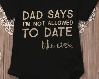 Dad Says onesie
