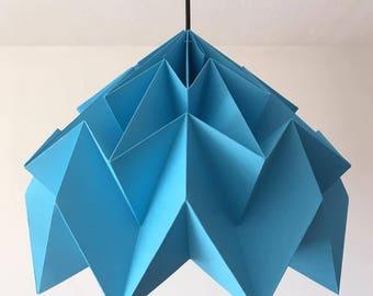 Blue cascading origami pendant