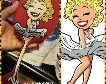 Handpainted Marilyn Monroe wine glass