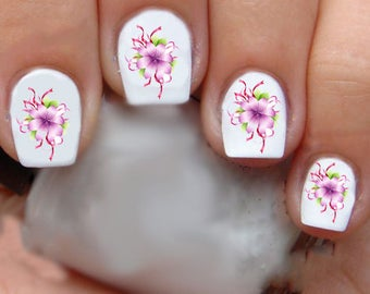1331 Flowers Waterslide Nail Art Decals Enough For 2 Manicures