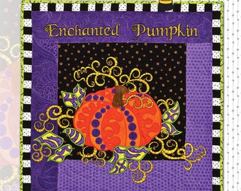 Enchanted Pumpkin Machine Embroidery CD & Pattern by Claudia's Creations