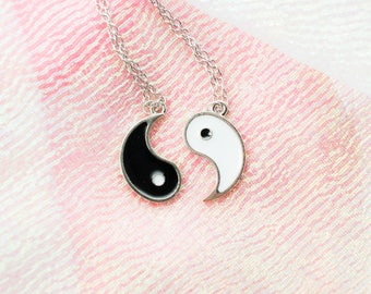 Yin Yang Chain Necklace - Best friend necklace - 2 Pieces