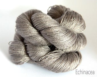 Luxury Lace weight yarn, Swiss spun silk and Royal Alpaca, Hand dyed, Oysters on the Bay