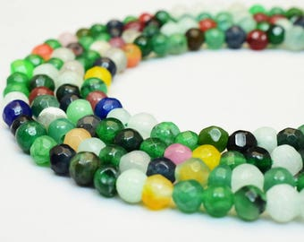 Natural Agate Gemstone Beads Faceted Round Beads Strand has mix size 4/5/6mm Healing chakra stones Jewelry Making Item# 789222065249