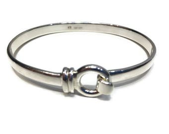 Sterling Silver Bangle/Georg Jensen Style/Ladies Bangle/Clasp bangle/Wedding Gifts/Mothers Day/Wedding Shower/Mothers Day