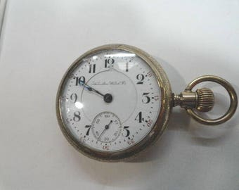 1901 Hamilton 17 Jewel Lever Set 18 Size Pocket Watch Gold Filled Case 55mm