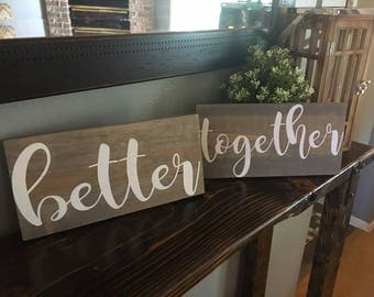 Better Together Wedding Chair Signs | Better Together Signs | Better Together Chair Signs | Denneystudio