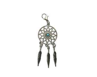 Dream catcher Pendant charms change pendant with carabiner