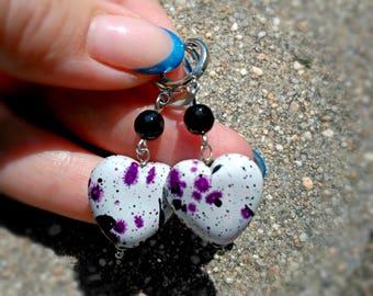 Earrings with hearts, romantic earrings