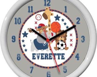 Future All Stars Personalized Childrens / Nursery  Wall Clock