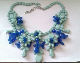 blue and enamelled bead Zara necklace