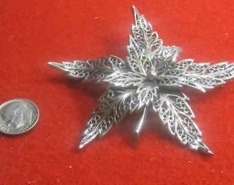R- 2 Beautiful  Vintage Brooch sterling silver