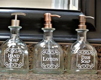 Patron Soap Dispensers / Patron Dish Soap Dispenser Bottle / Bathroom Hand Soap / Tequila Gifts /  Patron Glass Soap Dispenser Kitchen Soap