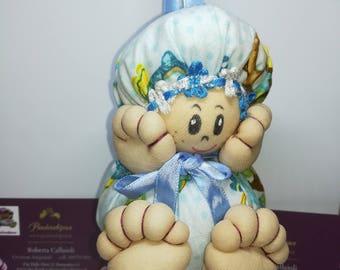 Happy Little Doll 10x7 by Pandorabijoux
