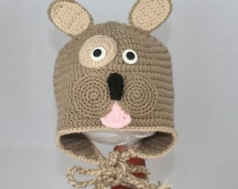 Dog hat size 36/18 month handmade