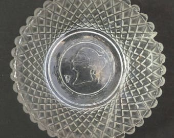 GLASS Dish for Coronation of Queen Victoria in 1837