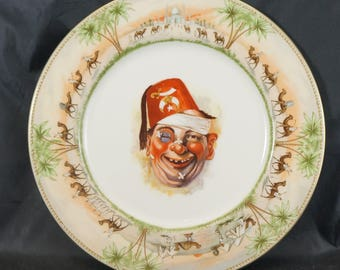 Vintage Shriners Clown Plate Masonic Shenango China