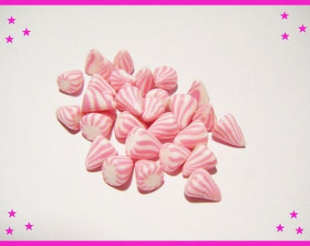 30 miniature Fimo polymer clay for dish - pastel milk bottle