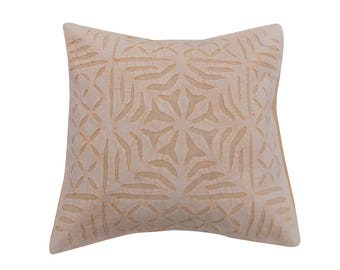 """Indian Pure Cotton Cushion Cover Home Cut Work Decorative White Color Size 17x17"""""""