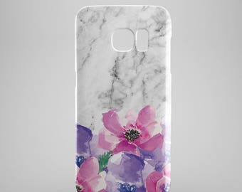 Floral Marble phone case for Samsung Galaxy S8, Samsung Galaxy S8 Plus, Samsung galaxy note 8, Samsung galaxy note 5, phone covers