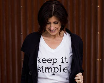 Keep It Simple White V-Neck