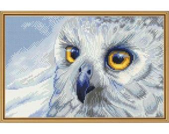 Cross Stitch Kit Snowy owl
