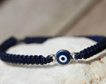 Lucky eye connector shamballa bracelet