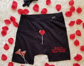 Valentine's Personalized Funny Undies for Guys SHIPS FREE!/Honeymoon Undies/Wedding Night Undies/Love Undies/Personalized Boxer Briefs