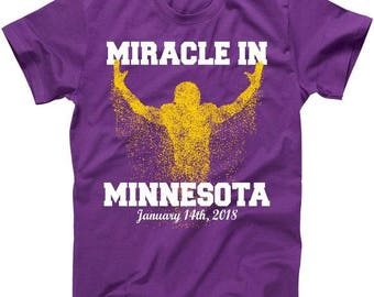 Miracle in Minnesota January 14th, 2018 Football - T shirt