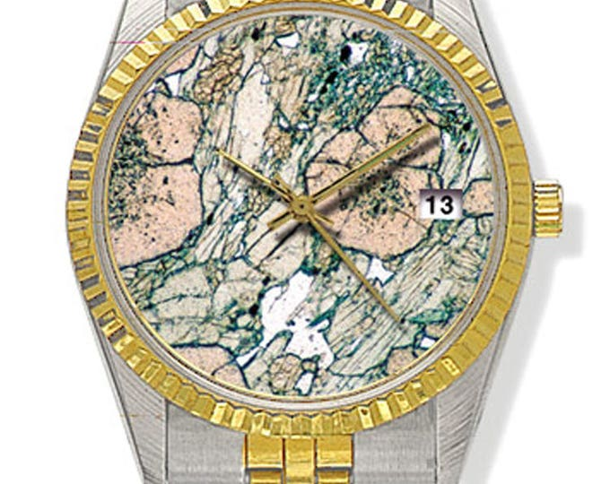 Custom watch with Mineral Photography - metal band