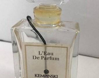 Vintage KEMPINSKI L'Eau De Parfum Verreries Brosse France Perfume Glass Bottle